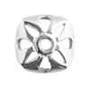SS.925 Bead Cap Square Flower 8mm